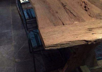 oud eiken kloostertafel