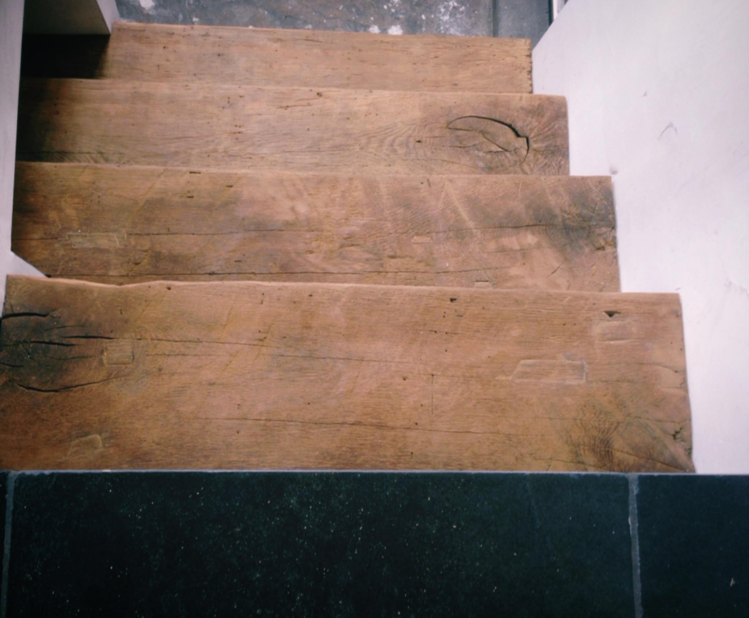 oud eiken trap