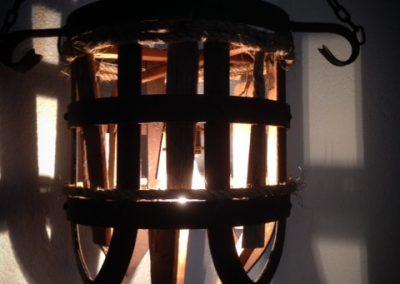 lamp oud eiken