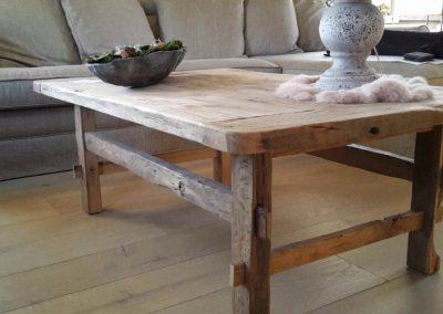oud eiken salontafel