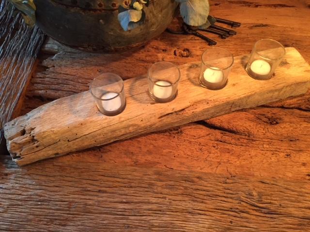 waxinelichthouder oud eiken