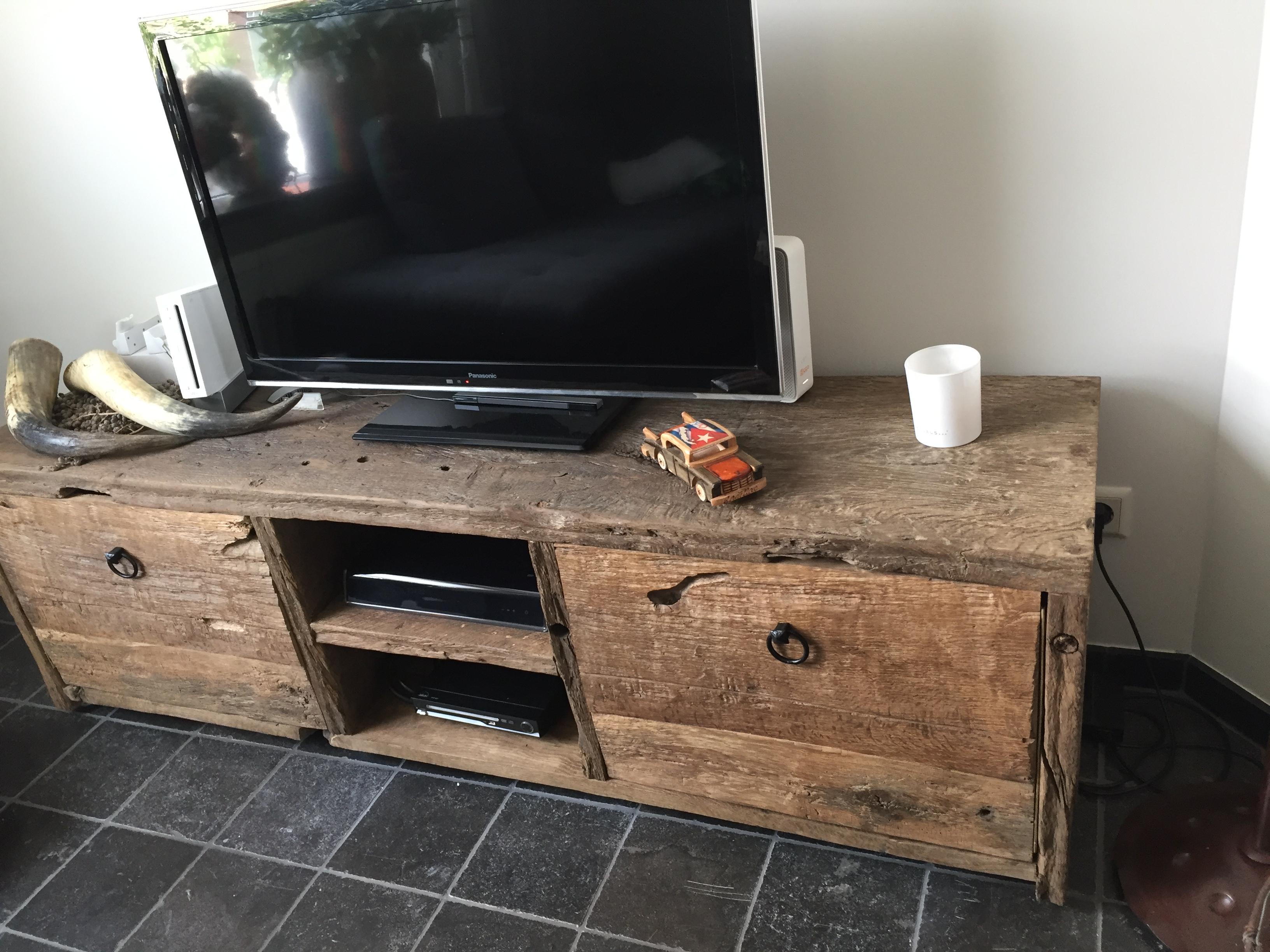 oud eiken tv meubel